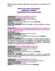 Pizarra de concursos mercantiles notificado ss a IFECOM ...