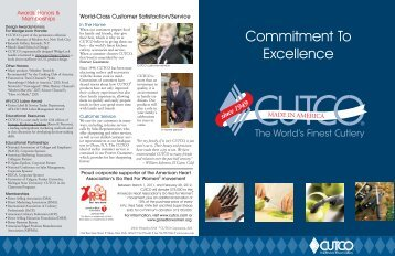 Corporate Commitment To Excellence Brochure - Cutco