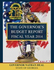 the governor's budget report - Governor's Office of Planning and ...