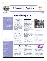 alumni newsletter Fall 2006 - Clinton Community College