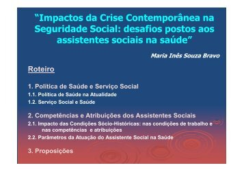 Maria Inês Souza Bravo - CFESS
