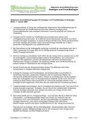 AGB WZ Anzeigen und Fremdbeilagen mit Kopf und Fuß