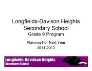Longfields-Davison Heights Secondary School