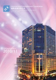 First Quarterly Report 2010/11 - International Entertainment ...