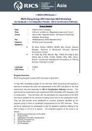 RICS CPD Event ∼ RICS (Hong Kong) APC Interview ... - RICS ASIA