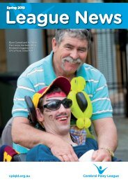 Spring 2010 - Cerebral Palsy League