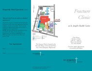 Fracture Clinic - St. Joseph's Health Centre Toronto