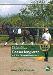 Broschüre Deutsches Longierabzeichen