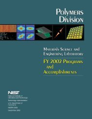 Materials Science and Engineering Laboratory FY 2002 ... - NIST