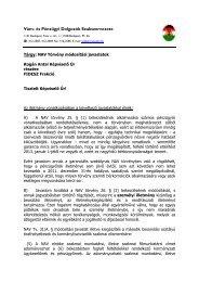 NAV Törvény módosítási javaslatok - Vám- és Pénzügyi Dolgozók ...
