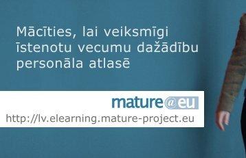 Mācīties, lai veiksmīgi īstenotu vecumu dažādību ... - Mature @ EU
