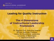 Four Dimensions of Instructional Leadership - Michigan Association ...