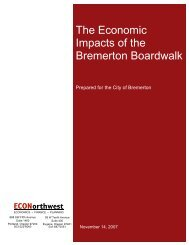 The Economic Impacts of the Bremerton Boardwalk - City of Bremerton