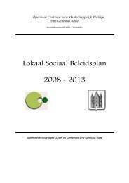 Lokaal Sociaal Beleidsplan 2008 - 2013