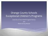 2 separate classrooms - Orange County Schools