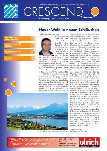Ausgabe 01/2008 - Luzerner Kantonal-Blasmusikverband