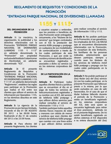 "1155 Y 1113"" - Grupo ICE"