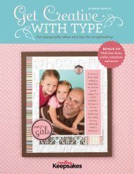 BY BRIAN TIPPETTS Fun typography ideas and tips for scrapbooking