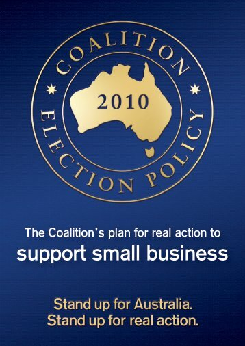 support small business - Liberal Party of Australia