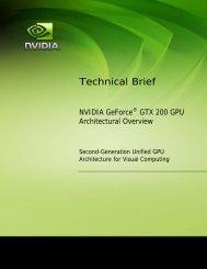 GeForce GTX 200 GPU Technical Brief - Nvidia