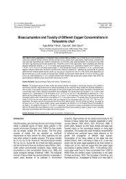 Su Ürünleri Fakültesi Journal of Fisheries & Aquatic Sciences 2005
