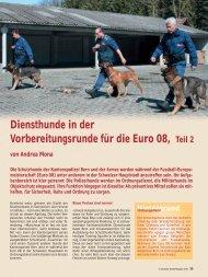 Diensthunde in der Vorbereitungsrunde für die Euro 08, Teil 2