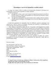 Dynamique et survie des légionelles en milieu naturel - LOMIC