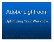Adobe Lightroom, Optimizing Your Workflow - WPS