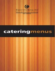 2012 Catering Menu.cdr - Executive Hotels and Resorts