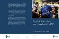 EU och krishantering - Myndigheten för samhällsskydd och beredskap