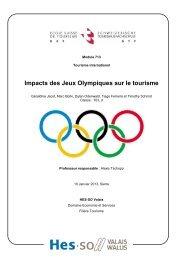 Impacts des Jeux Olympiques sur le tourisme