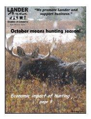 October Means Hunting Season! - Lander Chamber of Commerce