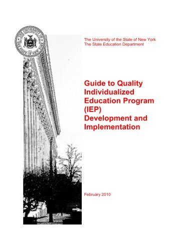 quality individualized educational programs essay Legal requirements for individualized education programs the idea and federal special education regulations include requirements for ieps - how to write ieps, legal requirements for ieps, iep teams, iep team members, tips on negotiating with the school for quality special education services, iep caselaw, free publications about.