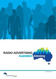 RADIO ADVERTISING Australia's listening - Commercial Radio ...