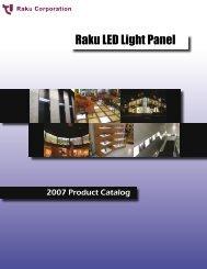 Raku LED Light Panel Catalog Raku LED Light ... - Raku-corp.com