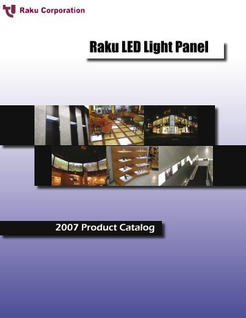 Raku LED Light Panel Catalog Raku LED Light ... - Raku-corp.com