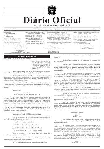 Diário Oficial - Governo do Estado do Mato Grosso do Sul
