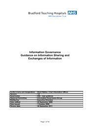 Information Governance Guidance on Information Sharing and ...