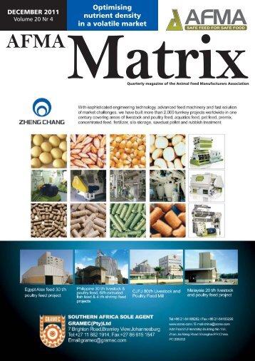 J06931 - AFMA - AFMA Matrix - December 2011.indd