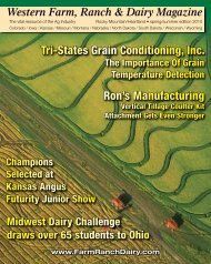 Ron's Manufacturing Tri-States Grain Conditioning, Inc. - Ritz Family ...