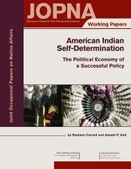 American Indian Self-Determination - Native Nations Institute ...