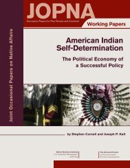 American Indian Self-Determination - Native Nations Institute ...