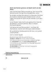 Bedienungsanleitung zu BOSCH HBC 24 D 553 Edelstahl - Innova