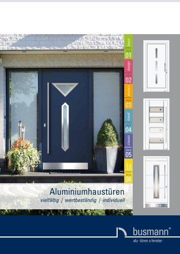 Aluminiumhaustüren 11/06 - busmann alu-türen & fenster