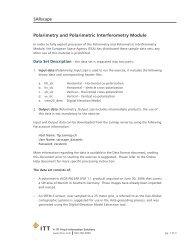 SARscape Polarimetry and Polarimetric Interferometry Module