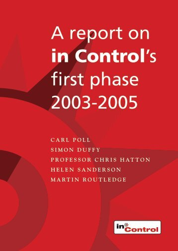 in control first phase report 2003-2005
