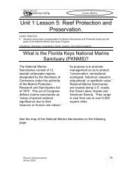 Unit 1 Lesson 5: Reef Protection and Preservation.