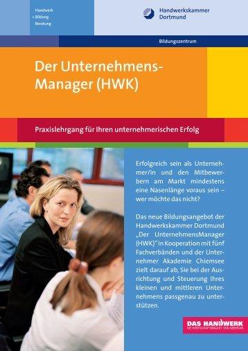 Der UnternehmensManager HWK download - Handwerkskammer ...