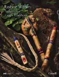 Indigenous Legal Traditions Discussion Paper