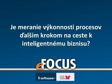 Je meranie výkonnosti procesov ďalším krokom na ceste ... - eFOCUS